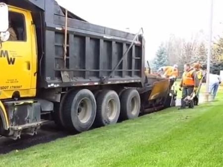Video Demo of Asphalt Paving